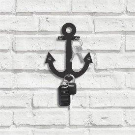 Porta Chaves Decorativo em MDF Âncora Naval