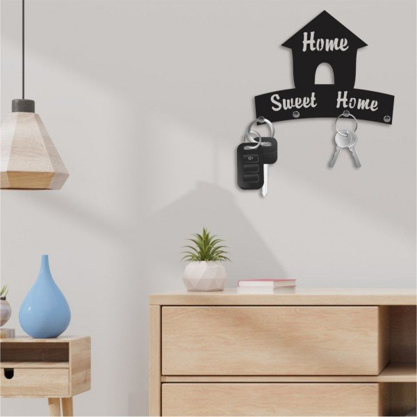 Porta Chaves Decorativo em MDF Home Sweet Home