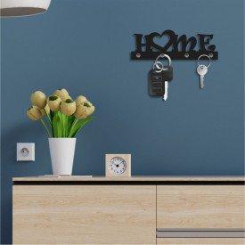 Porta Chaves Decorativo em MDF Home