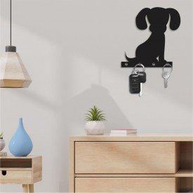 Porta Chaves Decorativo em MDF Meu Dog Amigo