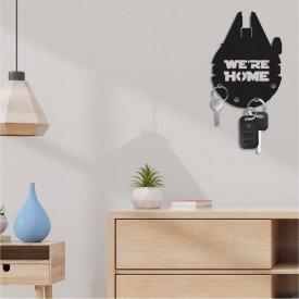 Porta Chaves Decorativo em MDF Star Wars We are Home