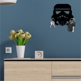 Porta Chaves Decorativo em MDF Stormtrooper Star Wars