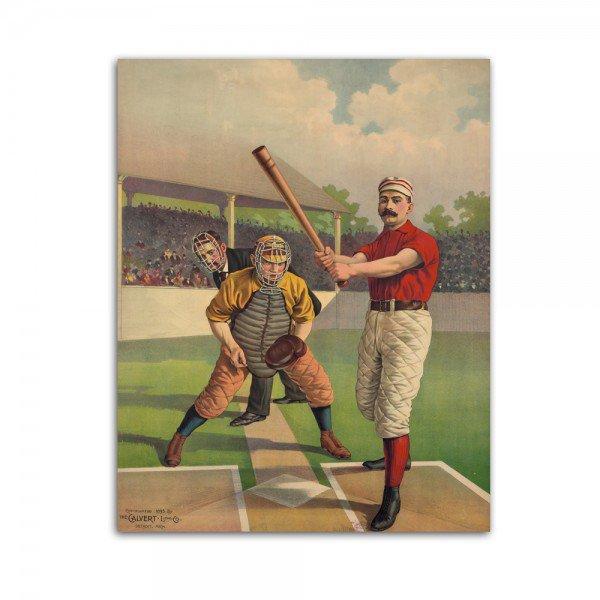 Placa Decorativa em MDF Baseball Retro