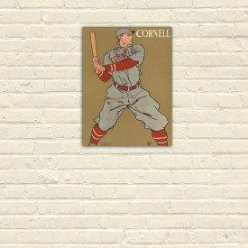 Placa Decorativa em MDF Cornell Baseball Retro