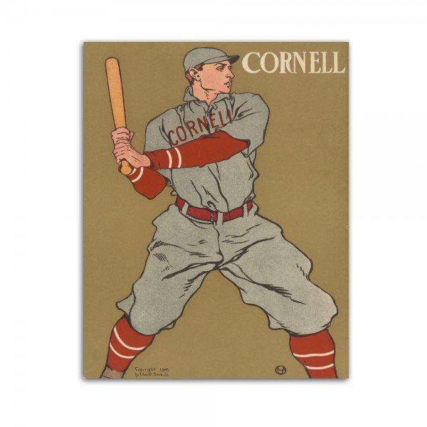 Placa Decorativa em MDF Cornell Baseball Retro