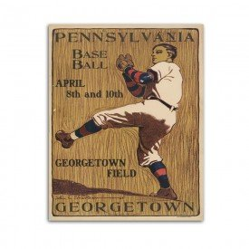 Placa Decorativa em MDF Pennsylvania Baseball Retro