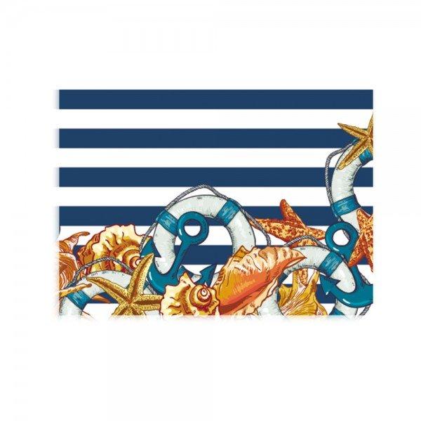 Placa Decorativa em MDF Praia Retro Azul