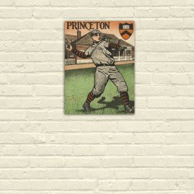 Placa Decorativa em MDF Princeton Baseball Retro