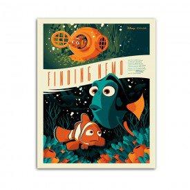 Placa Decorativa em MDF Procurando Nemo Retro