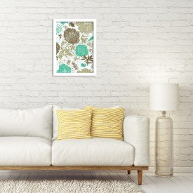 Quadro Decorativo Floral Verde Mesclado