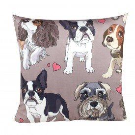 Almofada Decorativa Fun Cachorros Apaixonados