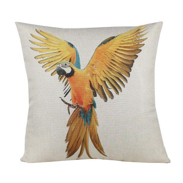 Almofada Decorativa Premium Amazonas Arara Amarela