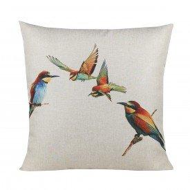 Almofada Decorativa Premium Amazonas Pássaros Abelharucu