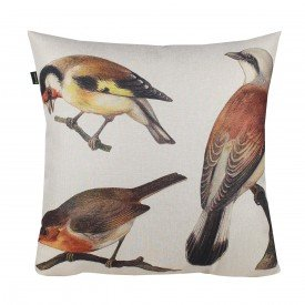 Almofada Decorativa Premium Amazonas Pássaros Pintarroxo