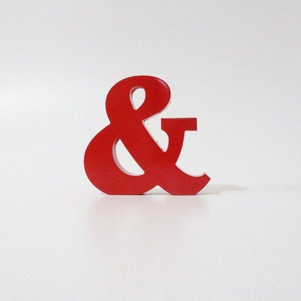 Letreiro em MDF & vermelho 16x17 cm
