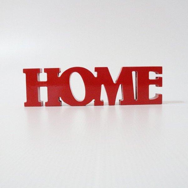 Letreiro em MDF Home Vermelho 30x8,4 cm