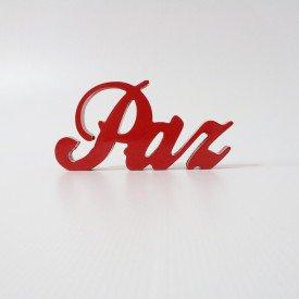 Letreiro em MDF Paz Vermelho 12x24cm