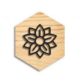 Quadro Hexagonal em Relevo Flower