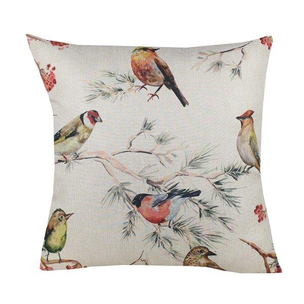 Almofada Decorativa Premium Amazonas Pássaros no Galho