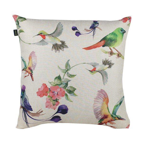 Almofada Decorativa Premium Amazonas Aves e Flores