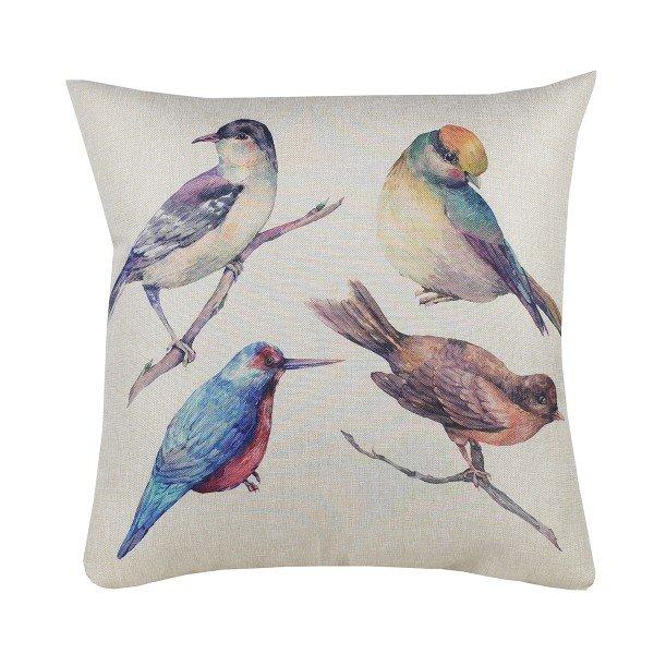 Almofada Decorativa Premium Amazonas Pássaros Coloridos