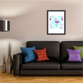 Quadro Decorativo Flamingo Tropical Moderno