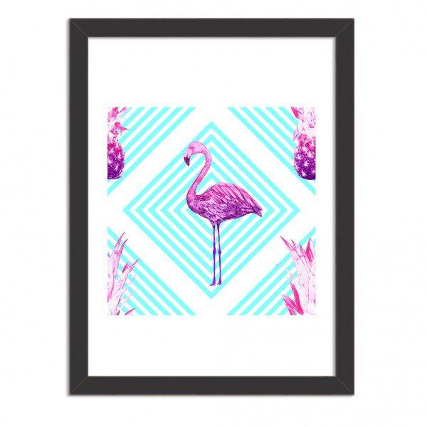 Quadro Decorativo Flamingo Tropical Moderno