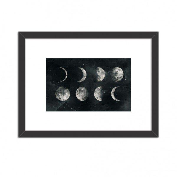 Quadro Decorativo Fases Lunares