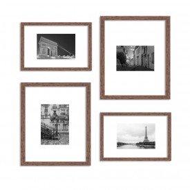 Conjunto de 4 Quadros Decorativos Premium Paris