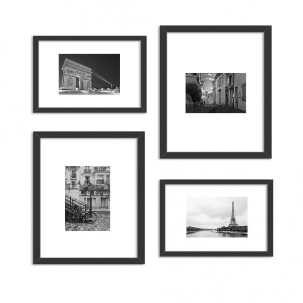 Conjunto de 4 Quadros Decorativos Premium Paris