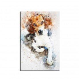 Tela em Canvas Decorativa Beagle Aquarela Modern