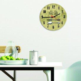 Relógio de Parede Decorativo Talheres Ouro Velho