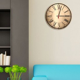 Relógio de Parede Decorativo Números Romanos