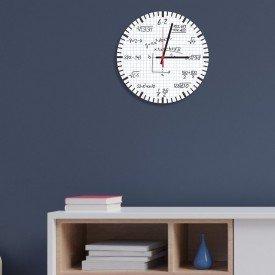 Relógio de Parede Decorativo Equações Matemáticas
