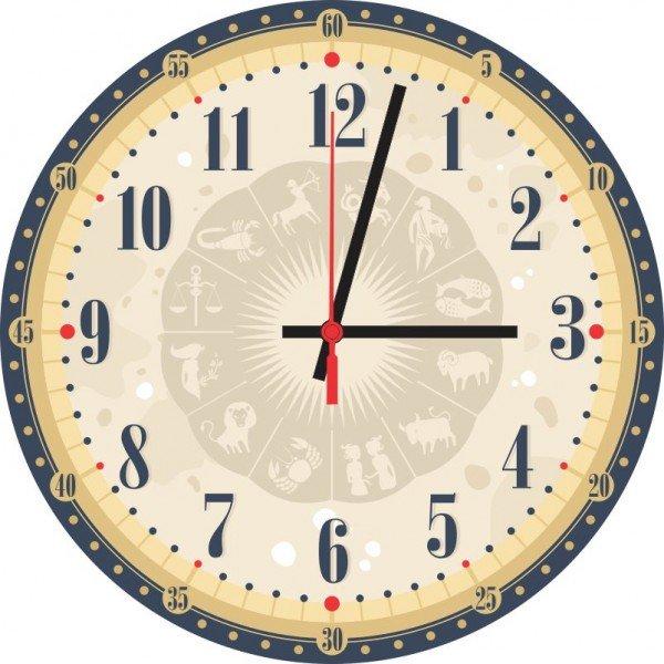 Relógio de Parede Decorativo Signos