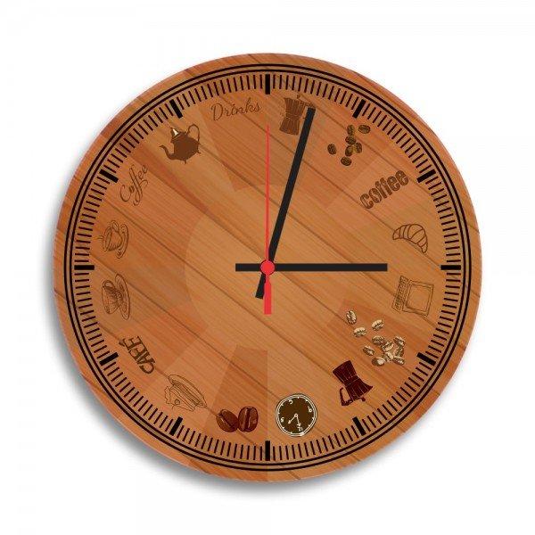 Relógio de Parede Decorativo Coffee And Drink