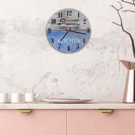 Relógio de Parede Decorativo Talheres Kitchen