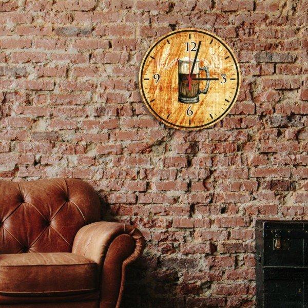 Relógio de Parede Decorativo Caneco de Chopp