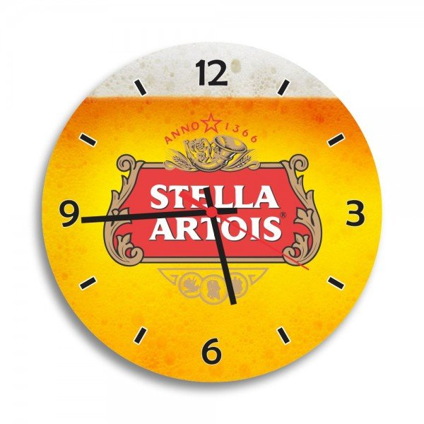 Relógio de Parede Decorativo Cerveja Stella Artois