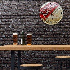 Relógio de Parede Decorativo Logo Stella Artois