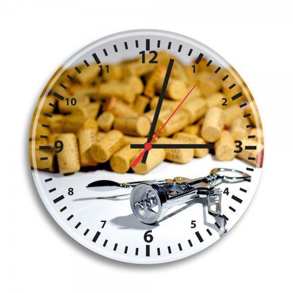 Relógio de Parede Decorativo Rolhas de Vinho