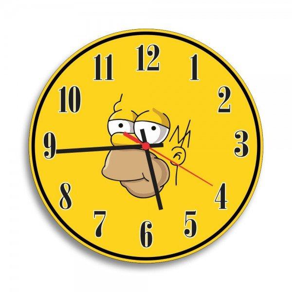 Relógio de Parede Decorativo Homer Simpson