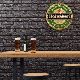 Relógio de Parede Decorativo Heineken Beer