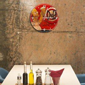 Relógio de Parede Decorativo Cerveja Duff Homer Simpson