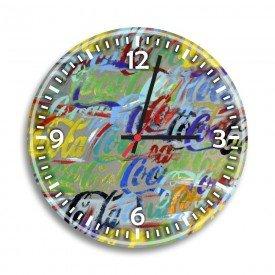 Relógio de Parede Decorativo Coca-Cola Colorido