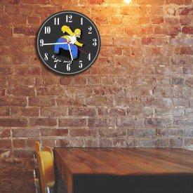 Relógio de Parede Decorativo Homer Simpson Kiss My