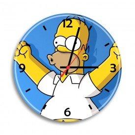 Relógio de Parede Decorativo Homer Simpson Comemorando