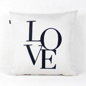 Almofada Decorativa Premium Requinte Love Branca e Preta