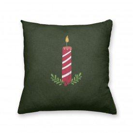 Almofada Decorativa Own Vela de Natal Verde