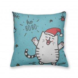 Almofada Decorativa Own Gato Noel Ho Ho Ho